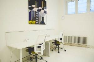 Shibumi spazio coworking | numero limitato di postazioni rende l'ambiente intimo e adatto a concentrarsi